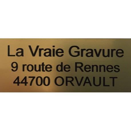 PLAQUETTE GRAVEE